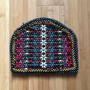 Handmade beaded clutch
